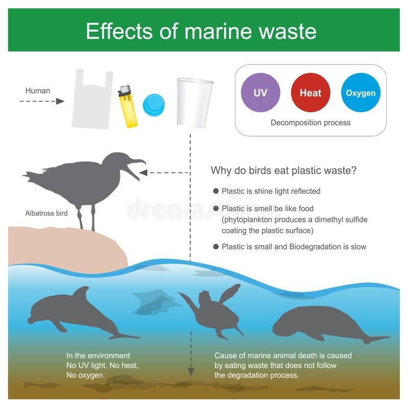 Effet des déchets de marine illustration stock