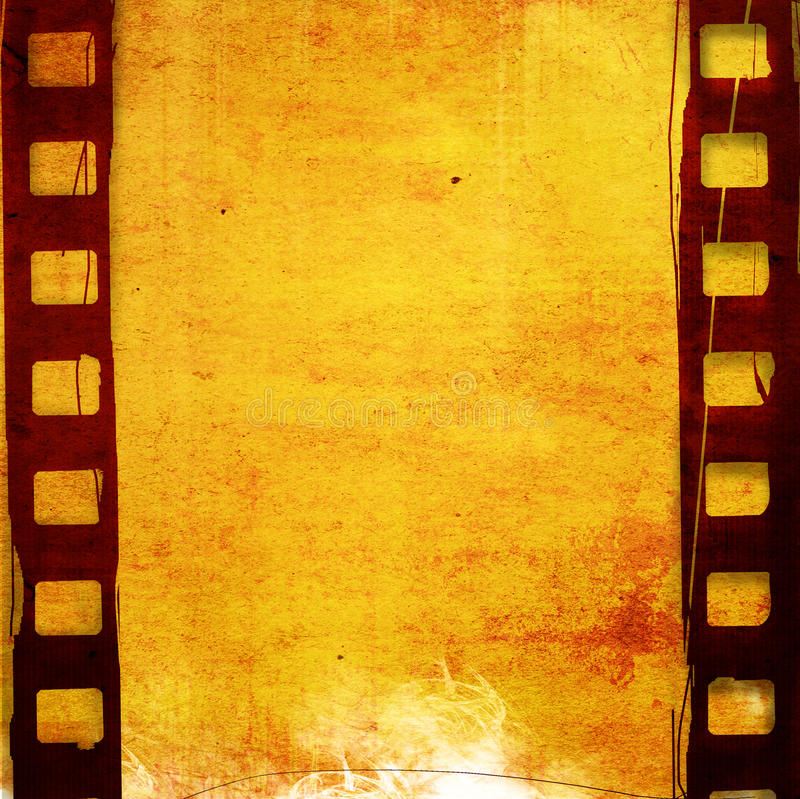 Effet grunge de vue de film illustration stock