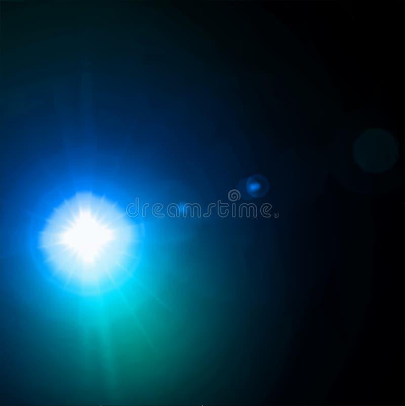 Effet léger de bleu de fusée. Vecteur illustration stock