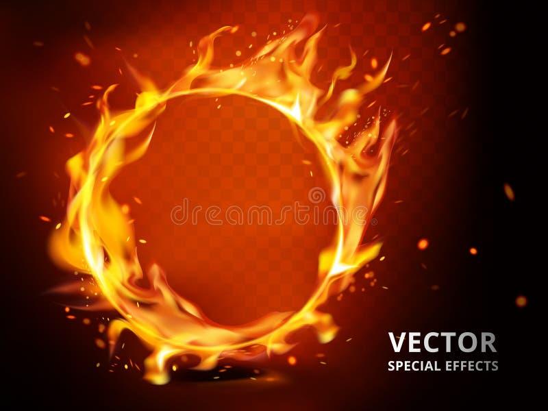 Effet spécial de cercle flamboyant illustration de vecteur