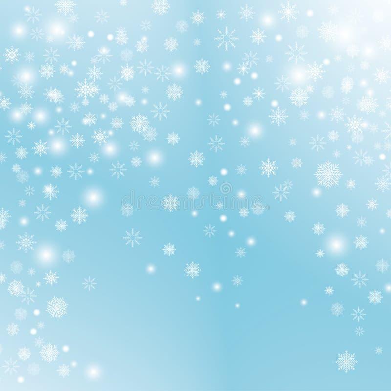 Effet transparent de décoration de flocon de neige illustration libre de droits