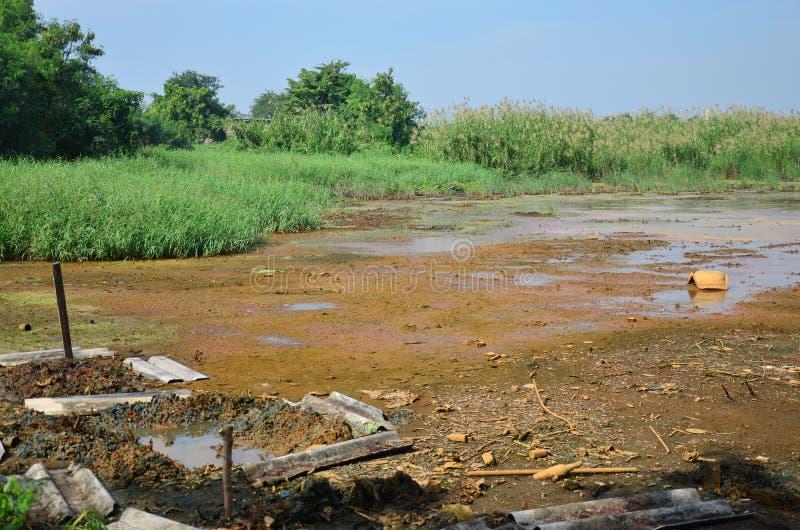 Effets de l'environnement des produits chimiques et des métaux lourds dans le sol image stock