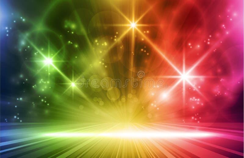Effets de la lumière de vecteur coloré illustration stock