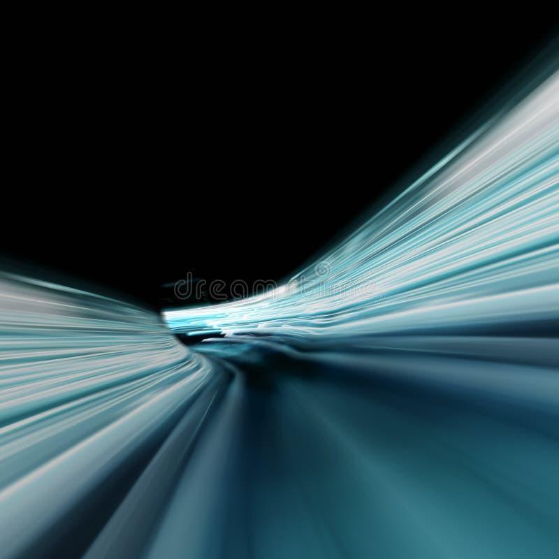 Effets de la lumière de vitesse photographie stock libre de droits