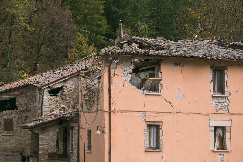 Effets de tremblement de terre images stock