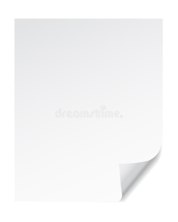 Effetti di carta dell'arricciatura dell'angolo della pagina,   illustrazione vettoriale
