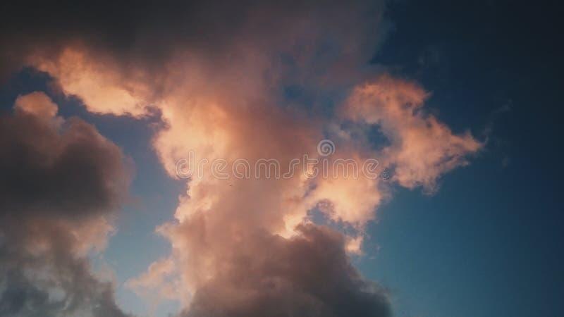 Effetti di tramonto fotografia stock