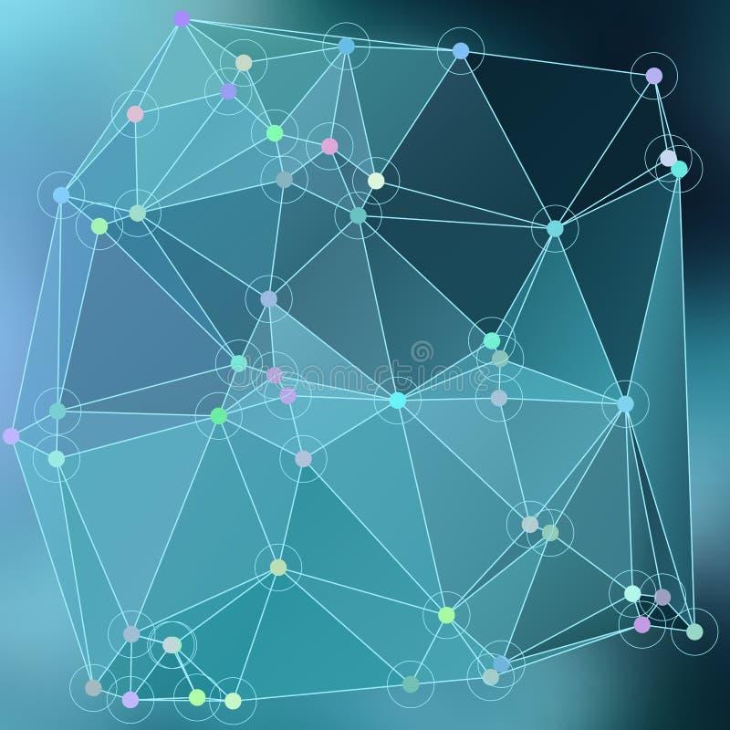 Effetto astratto moderno light86 d'ardore dei triangoli 3d del fondo royalty illustrazione gratis
