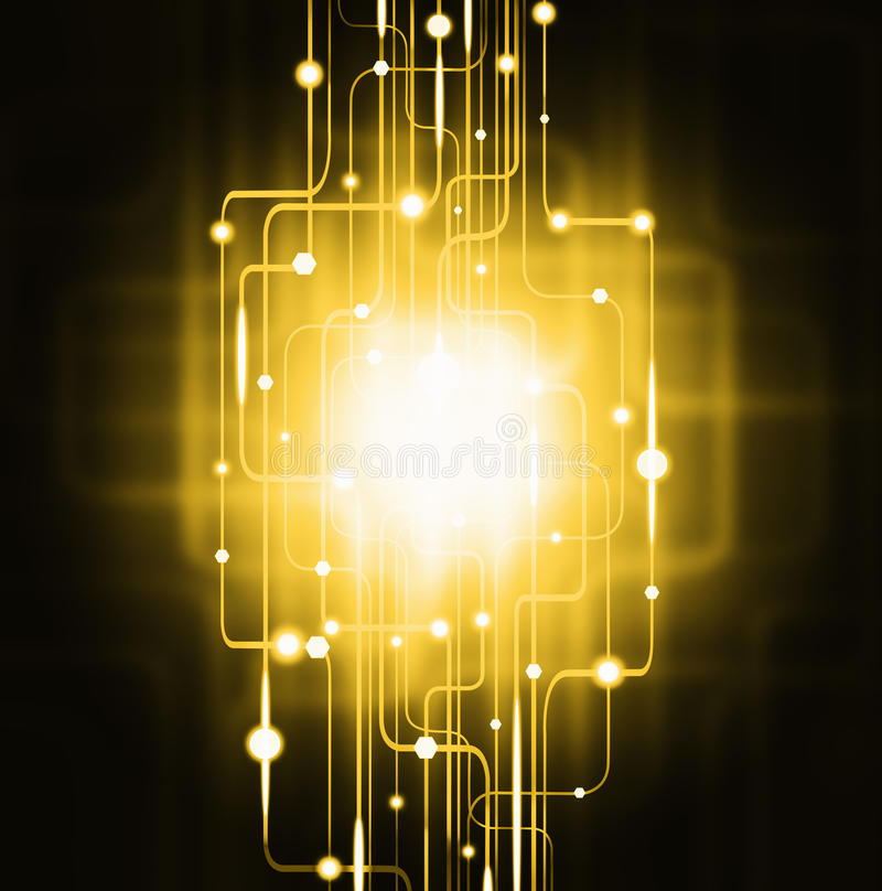Effetto della luce astratto del circuito illustrazione vettoriale
