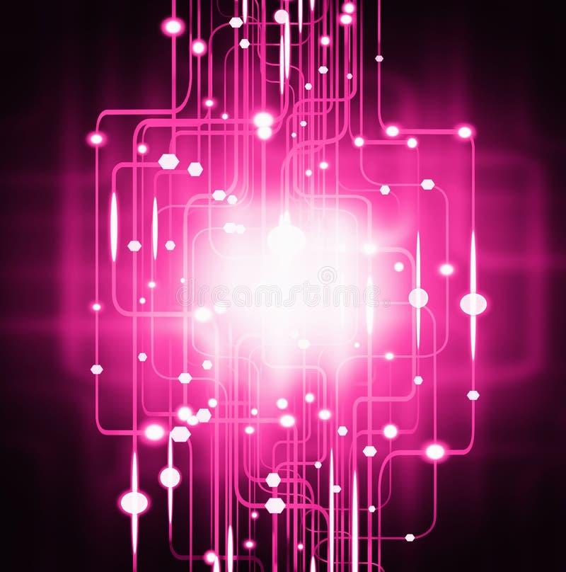 Effetto della luce astratto del circuito illustrazione di stock