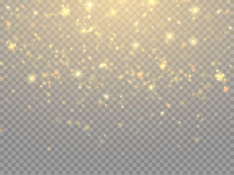 Effetto della luce di incandescenza Concetto delle luci di Natale di vettore illustrazione vettoriale