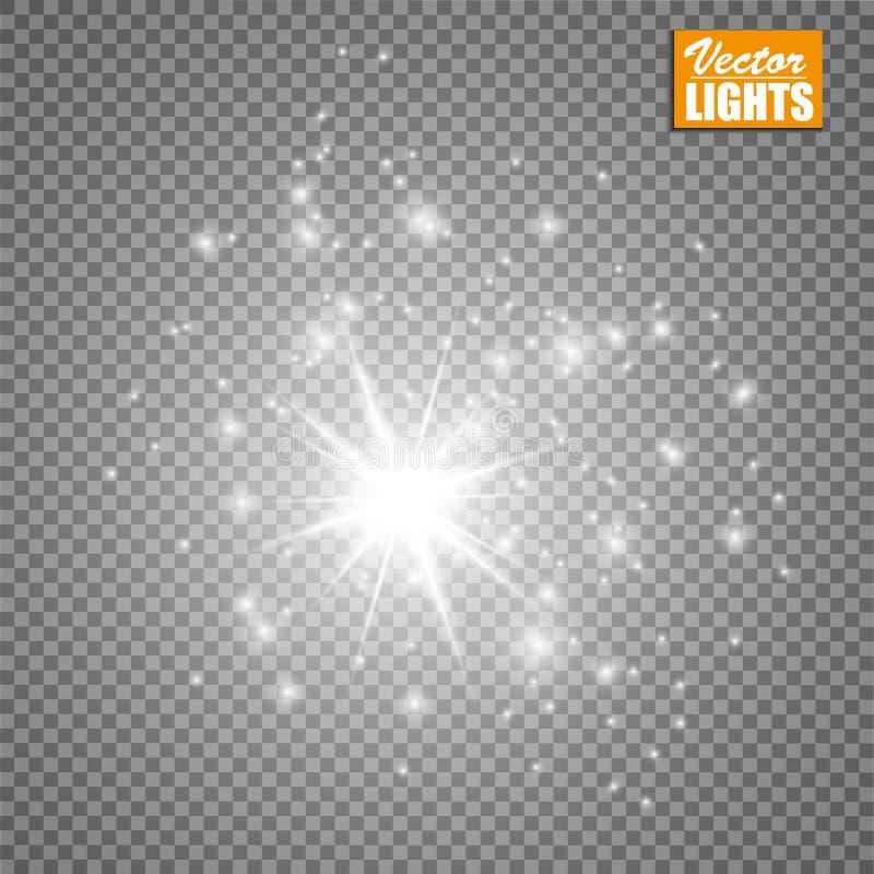 Effetto della luce di incandescenza Illustrazione di vettore Concetto istantaneo di Natale illustrazione vettoriale