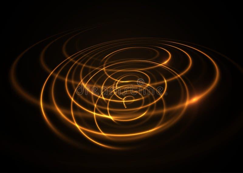Effetto della luce di turbinio Elemento di vettore royalty illustrazione gratis