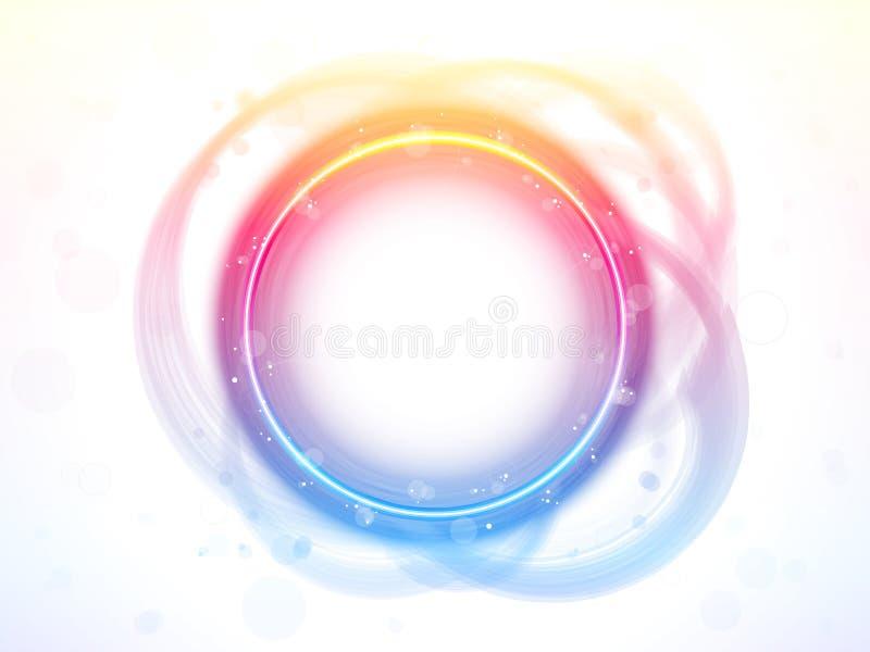 Effetto della spazzola del bordo del cerchio del Rainbow. royalty illustrazione gratis