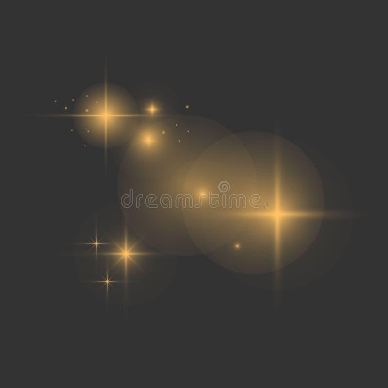 Effetto delle luci d'ardore royalty illustrazione gratis