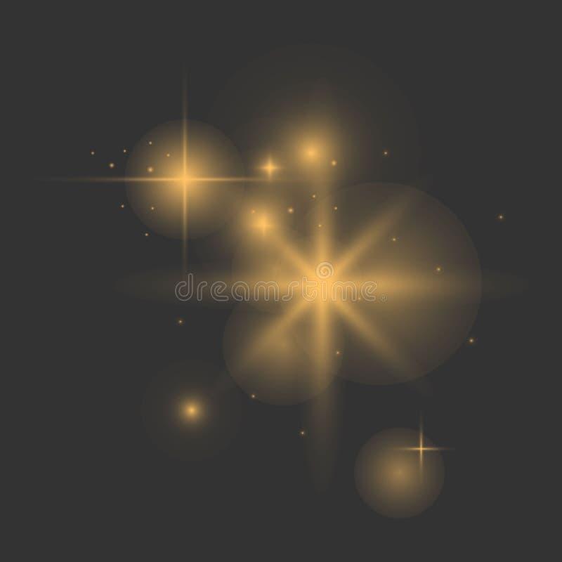 Effetto delle luci d'ardore illustrazione vettoriale
