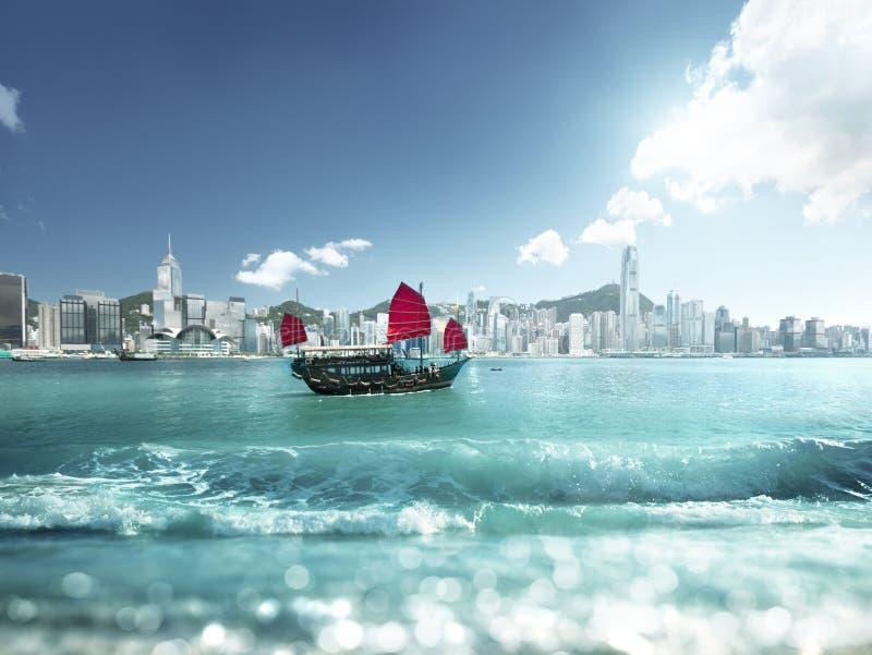Effetto dello spostamento di inclinazione e di Hong Kong immagine stock libera da diritti