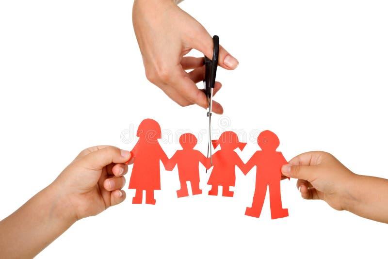 Effetto di divorzio sul concetto dei bambini immagini stock libere da diritti
