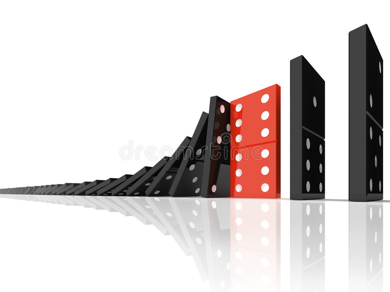 Effetto di domino illustrazione di stock