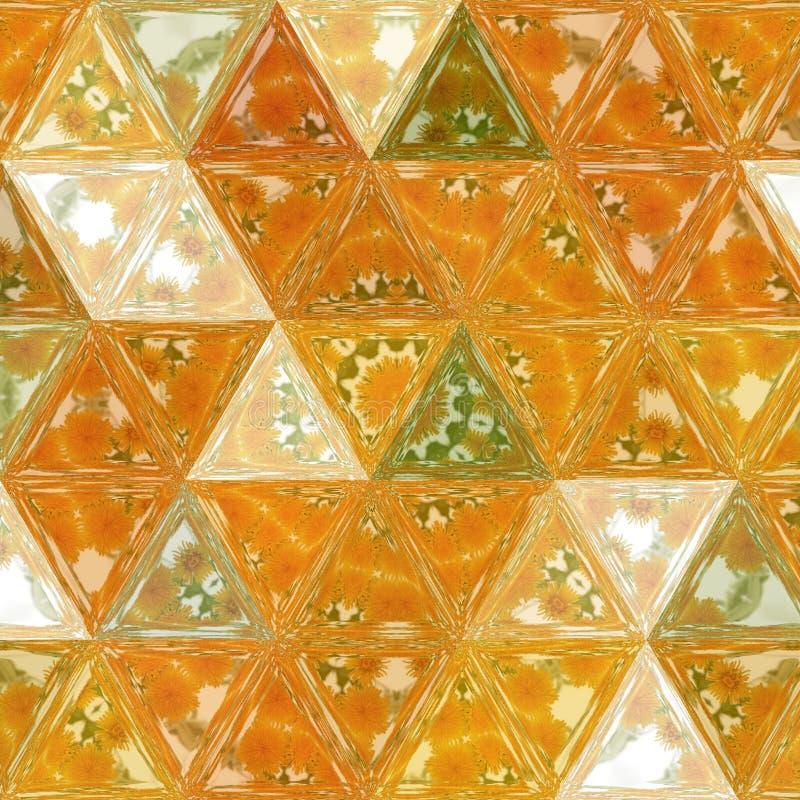 Effetto di vetro trasparente di fondo della rappezzatura arancio e verde di effetto, immagine della molla ed estate, fondo grazio fotografia stock libera da diritti