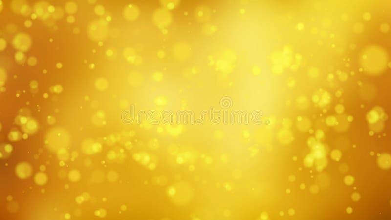 Effetto dorato della particella della scintilla Punti di dati dell'elaboratore digitale nel fondo futuristico di concetto di tecn illustrazione di stock