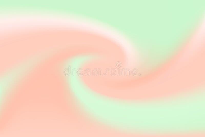 Effetto luminoso marrone vago dell'onda molle di torsione di colori luminosi e verdi per fondo, pendenza dell'illustrazione nel t illustrazione vettoriale