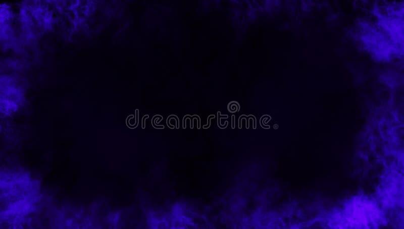 Effetto nebbioso di struttura del fumo blu della struttura per il film, il testo o lo spazio Sovrapposizioni di struttura del con illustrazione vettoriale