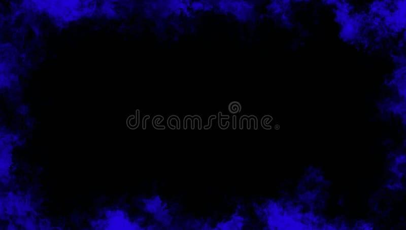 Effetto nebbioso di struttura del fumo blu della struttura per il film, il testo o lo spazio Sovrapposizioni di struttura del con royalty illustrazione gratis