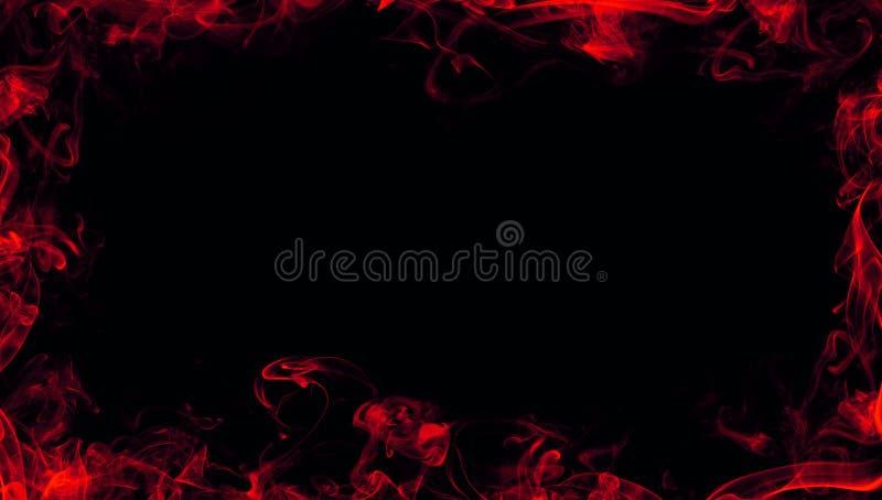 Effetto nebbioso di struttura del fumo rosso della struttura per il film, il testo o lo spazio Struttura del confine royalty illustrazione gratis