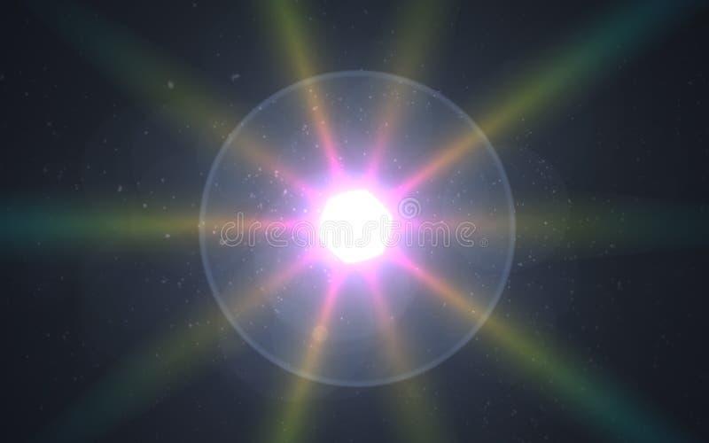 Effetto speciale del chiarore chiaro Chiarore della palla di spettro della punta royalty illustrazione gratis