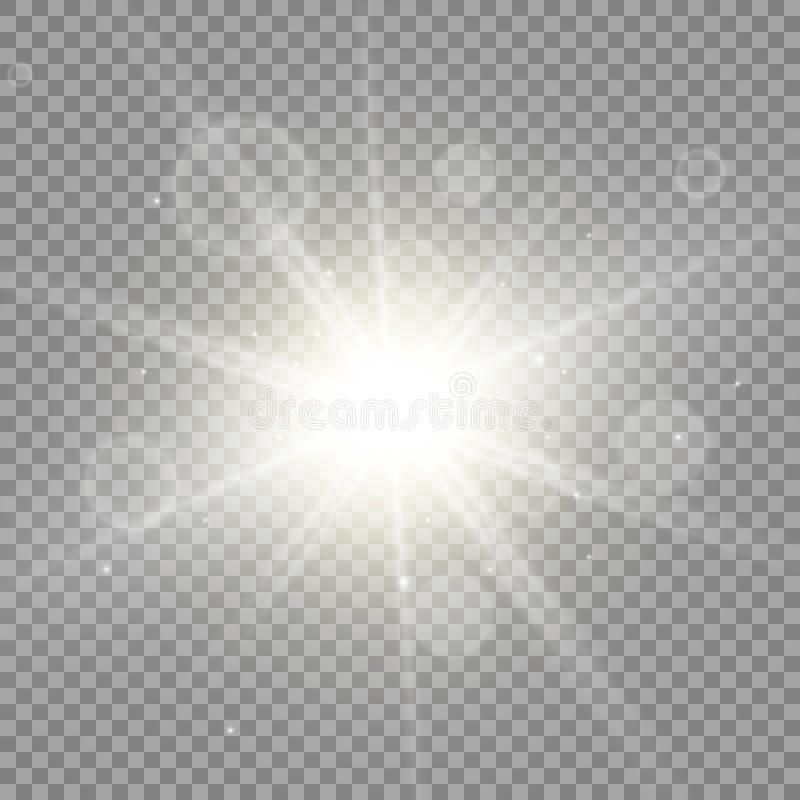 Effetto speciale del chiarore chiaro Illustrazione illustrazione di stock
