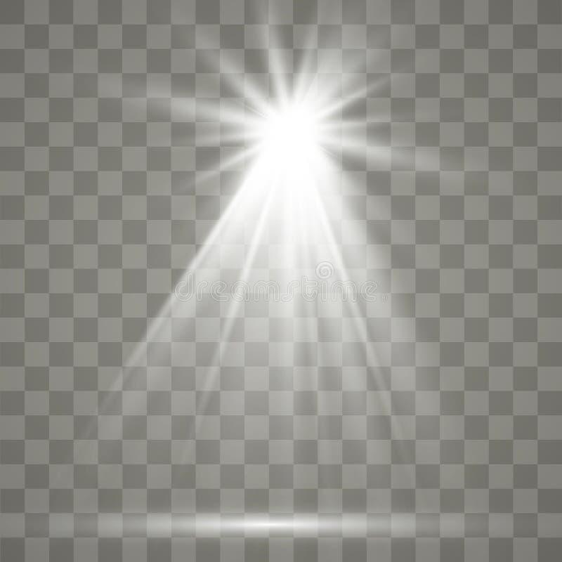Effetto speciale del chiarore chiaro Illustrazione Il vettore scintilla su fondo trasparente Effetto speciale del chiarore chiaro royalty illustrazione gratis
