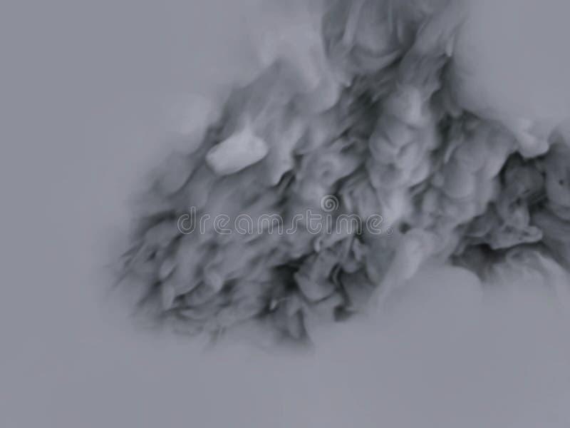 Effetto speciale del fumo o della nebbia fondo grigio di opacit?, della foschia o dello smog fotografia stock