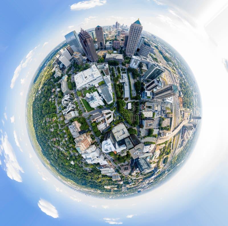 Effetto Tiny Planet in Midtown Atlanta fotografia stock