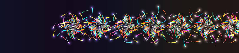 Effetto variopinto RGB della coda dell'insegna di forma del diamante illustrazione di stock