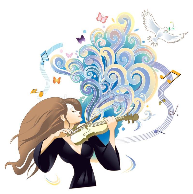 Effettuazione del violinista royalty illustrazione gratis