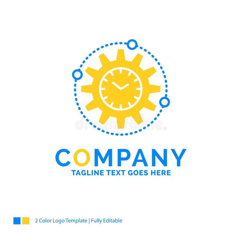 Efficacité, gestion, traitant, productivité, projet Y bleu illustration stock