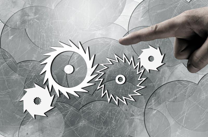 Efficiënt werkend mechanisme stock afbeelding