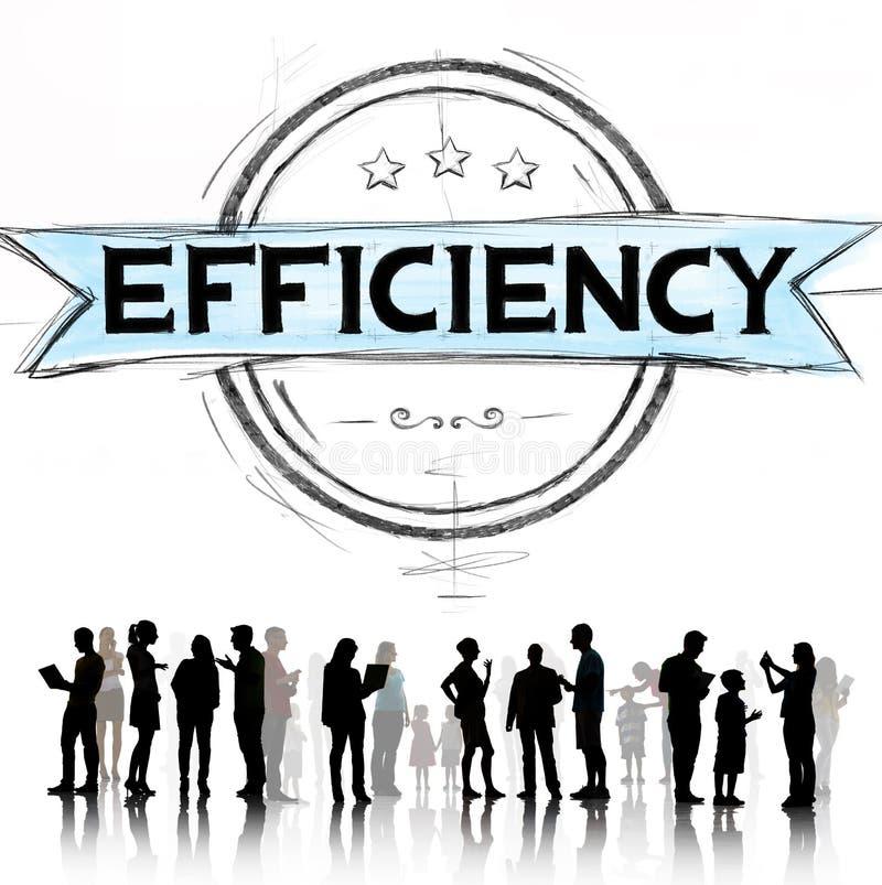 Efficiency Improvement Mission Motivation Development Concept stock illustration