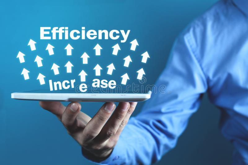 Efficiency Increase. Development and Growth. Business concept stock photo