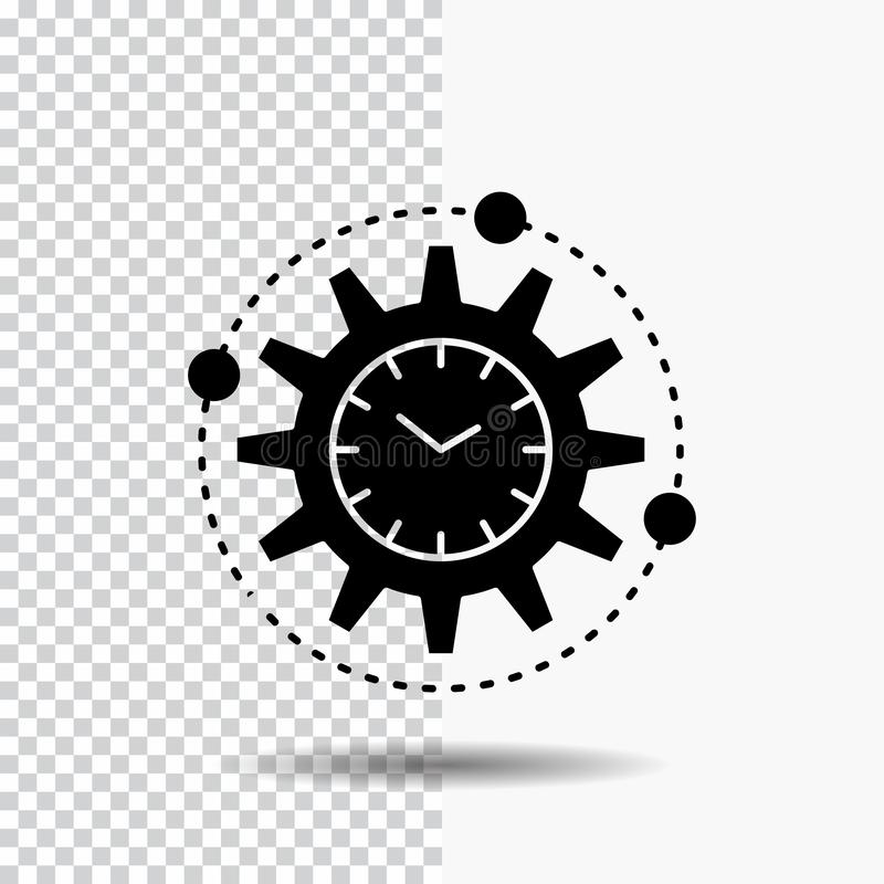 Efficiency, management, processing, productivity, project Glyph Icon on Transparent Background. Black Icon. Vector EPS10 Abstract Template background vector illustration