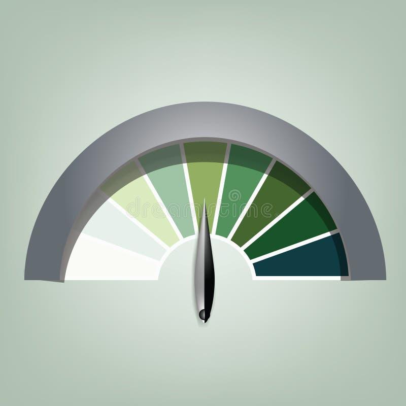Efficiency/snelheidsdetector royalty-vrije illustratie