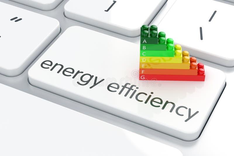 Efficiencyconcept энергии иллюстрация вектора