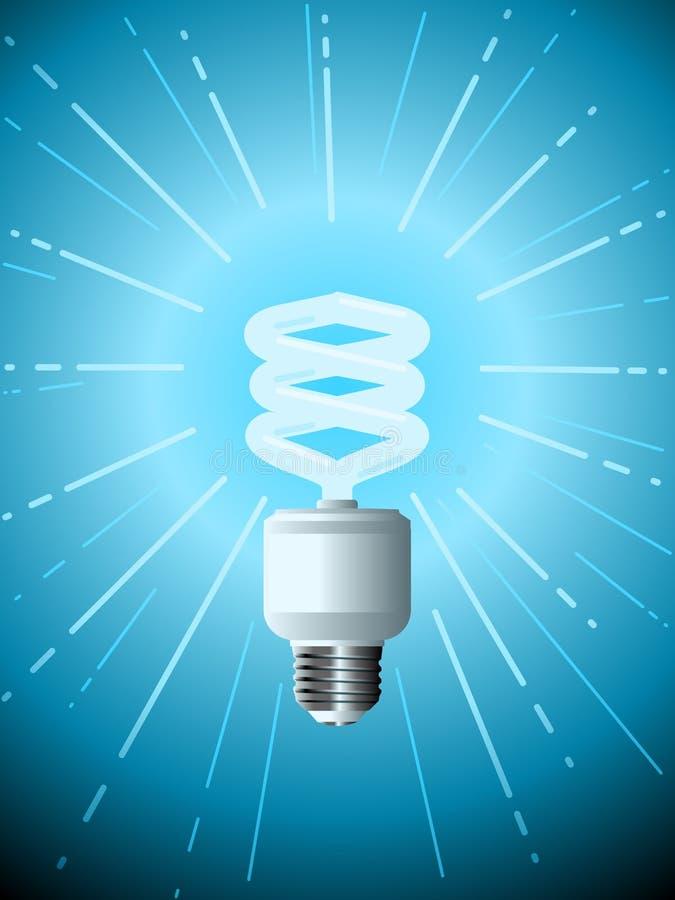 Download Efficient lightbulb stock vector. Image of blue, energy - 18986473