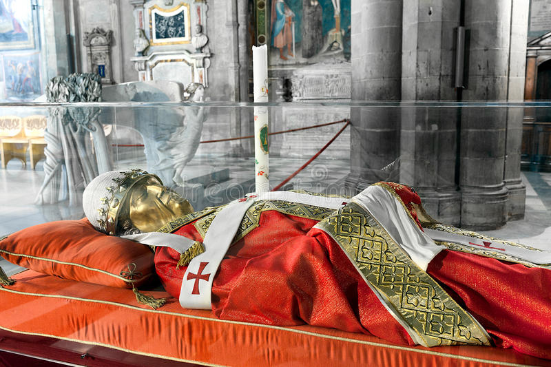 The effigy of Pope Gregory X royalty free stock images