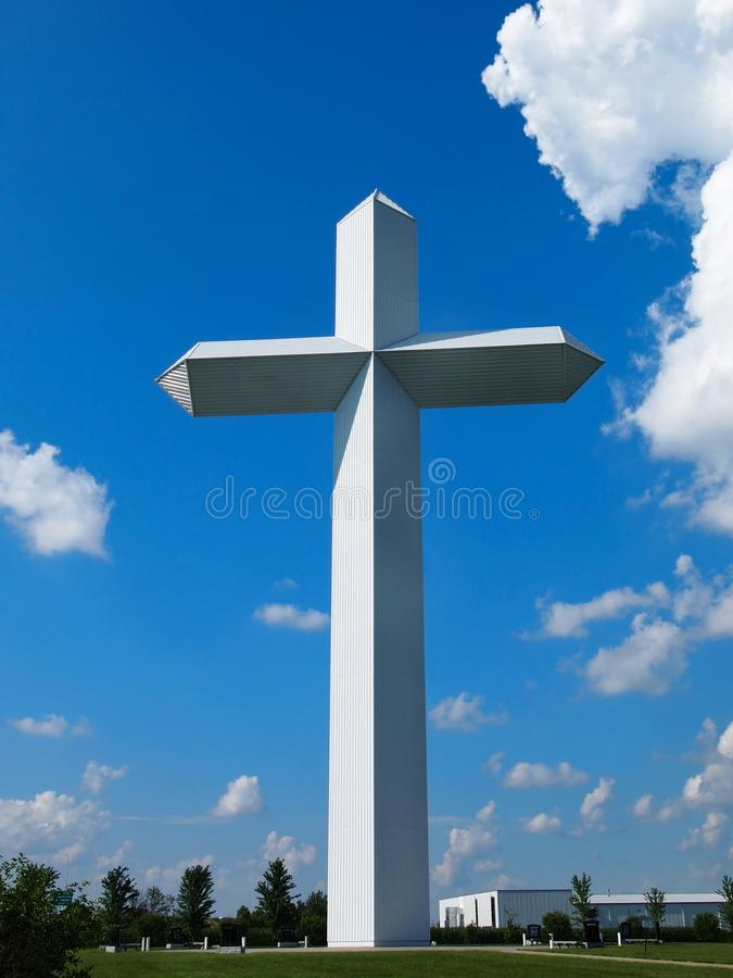 Enormous Cross In Illinois stock photography