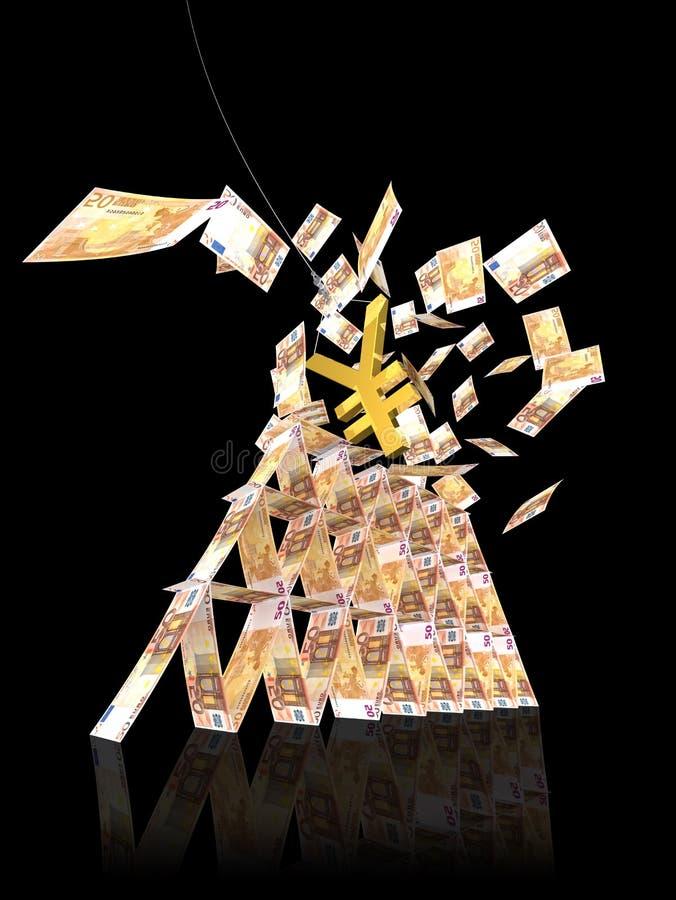 EFFONDREMENT DE TOUR DE L EURO 50 DE YENS