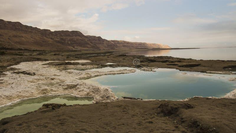 Effondrements de mer morte au plus bas endroit au monde photos stock