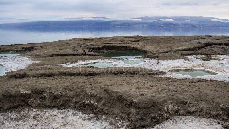 Effondrements de mer morte au plus bas endroit au monde image stock