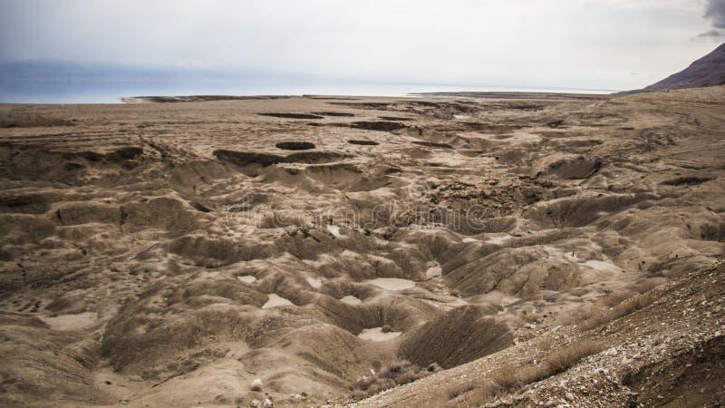 Effondrements de mer morte au plus bas endroit au monde photographie stock